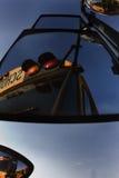 Geparkeerde schoolbussen Royalty-vrije Stock Foto