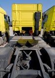Geparkeerde Vrachtwagens Stock Foto