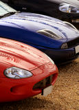 Geparkte Sport-Autos Stockfotografie