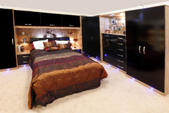 Gepaste slaapkamer Stock Afbeelding