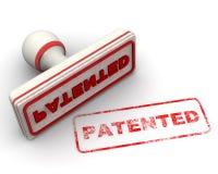 gepatenteerd Verbinding en afdruk vector illustratie