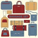 Gepäck eingestellt für Fahrzeit Stockfotografie