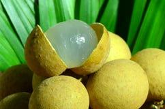 Gepeld longan fruit. Royalty-vrije Stock Afbeelding