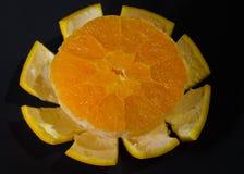 Gepeld van de helft van sinaasappel Royalty-vrije Stock Afbeelding