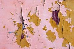 Gepeld van houten verf Stock Afbeelding