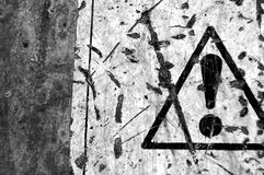 Gepeld waarschuwingssein Stock Afbeeldingen