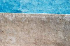 Gepelde verf en gekalkte muur Stock Foto's