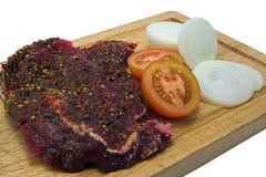 Gepfeffertes Steak Lizenzfreie Stockfotos