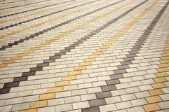 Gepflasterte Bürgersteigsfliesen diagonal Lizenzfreies Stockfoto