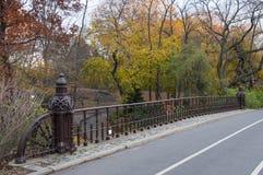 Gepflasterte Brücke im Central Park, New York Stockbilder