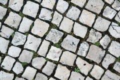 Gepflasterte Straße in Rom Stockfotos