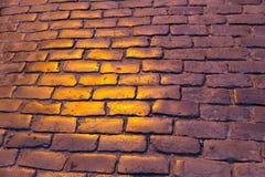 Gepflasterte Straßenbeschaffenheit Lizenzfreies Stockfoto