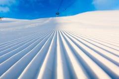 Gepflegter Schnee Stockfotografie