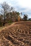 Gepflogenes Feld Leben auf dem Bauernhof Landwirtschaftliche Industrie Landschaft in der Tschechischen Republik Herbst auf den Ge lizenzfreies stockbild