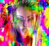 Geplätscherte Farbe, abstrakt. Stockfotografie