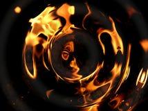 Geplätscherte Flammen Stockfotografie