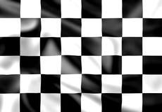 Geplätscherte Seide karierte Rennenmarkierungsfahne Lizenzfreies Stockfoto