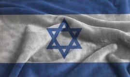 Geplätscherte wellenartig bewegende Flagge von Israel lizenzfreie stockfotos