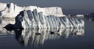 Geplätscherter Eis Floe Stockfoto