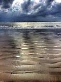 Geplätscherter Sand Stockfotos