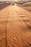 Geplätscherter Sand in der Wüste Stockbilder