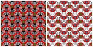 Geplaatst Afrika - twee patronen stock illustratie