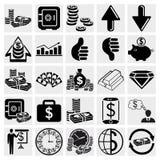 Geplaatst bankwezen, Zaken, Financiën en personeel stock illustratie