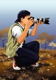 Geplaatst beroep: fotograaf royalty-vrije illustratie