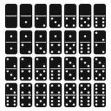 Geplaatst dominohoogtepunt - vector royalty-vrije illustratie