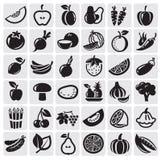 Geplaatst fruit en Groenten Stock Foto's