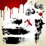 Geplaatst Halloween: enge texturen Stock Fotografie