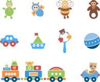 Geplaatst jongensspeelgoed Stock Afbeelding