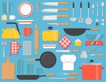 Geplaatst keukengereedschap vector illustratie
