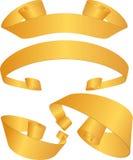Geplaatst lint - Goud Royalty-vrije Stock Afbeeldingen