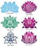Geplaatst Lotus stock illustratie