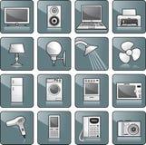 Geplaatst pictogram - huisapparatuur Stock Foto's