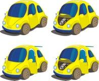 Geplaatst pictogram - miniauto's Stock Afbeelding