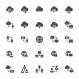 Geplaatst pictogram - netwerk en connectiviteit stevige pictogramstijl royalty-vrije illustratie