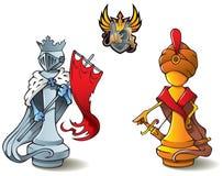 Geplaatst schaak: Koningen Stock Afbeeldingen