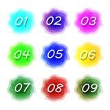 Geplaatste aantallen Aantallen geplaatst emblemen vector illustratie