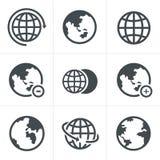 Geplaatste aardepictogrammen Royalty-vrije Stock Afbeelding