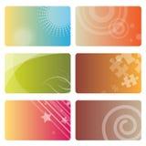 Geplaatste Adreskaartjes Royalty-vrije Stock Afbeeldingen