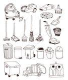 geplaatste afvalpictogrammen, vectorillustratie Royalty-vrije Stock Fotografie