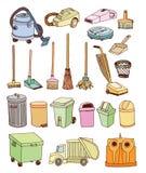 geplaatste afvalpictogrammen, vectorillustratie Royalty-vrije Stock Afbeeldingen