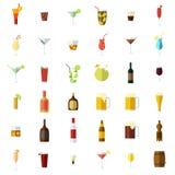 Geplaatste alcoholpictogrammen vector illustratie