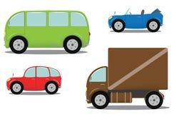 Geplaatste auto's Stock Afbeelding