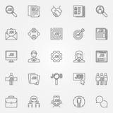 Geplaatste baanpictogrammen Stock Afbeeldingen