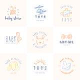 Geplaatste babyemblemen Royalty-vrije Stock Afbeeldingen