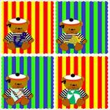 0116_14 geplaatste babykaarten Stock Fotografie