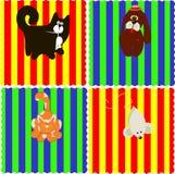0116_11 geplaatste babykaarten Royalty-vrije Stock Afbeelding